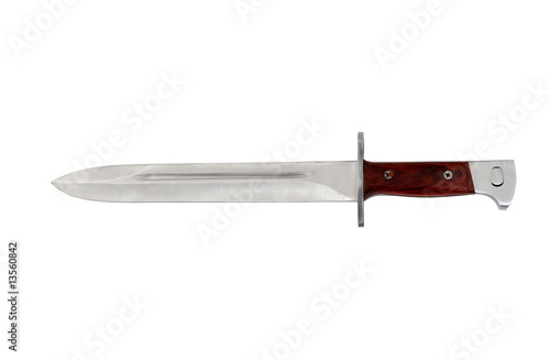 Foto isolated russian bayonet on white background with clipping path