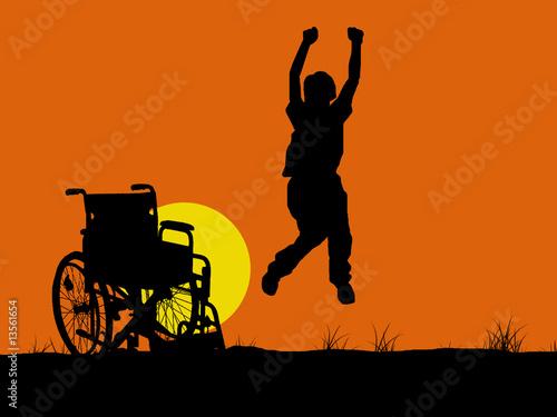 Valokuva  Jumping invalid