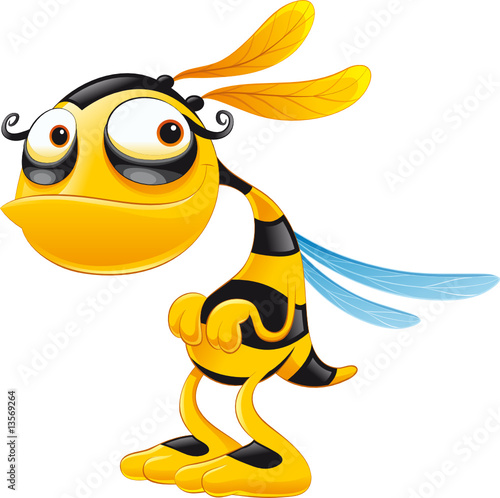 Obraz Zabawna pszczoła - fototapety do salonu