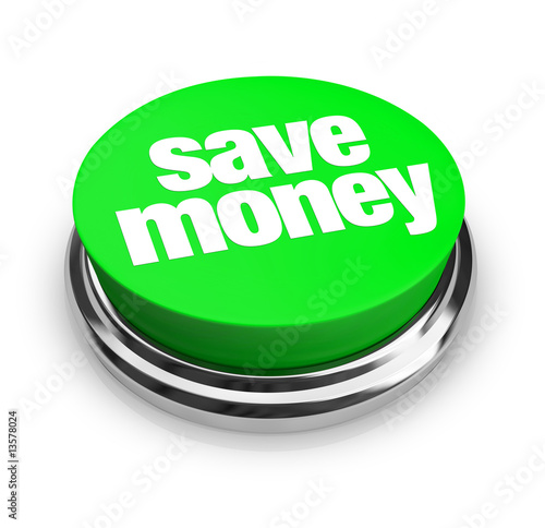 Fotografía  Save Money - Green Button