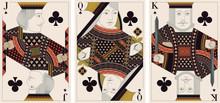 Jack, King,queen Of Clubs - Ve...