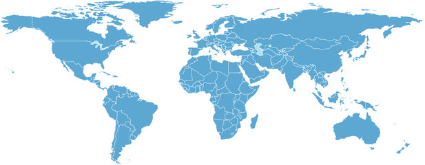WORLD MAP BY COUNTRIES