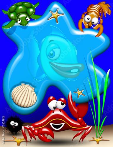 Foto-Lamellen (Lamellen ohne Schiene) - Animali Mare-Sea Animals-Animaux Mer 3 (von BluedarkArt)