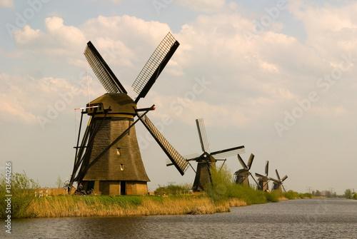 Kinderdijk Windmill Wallpaper Mural