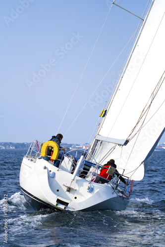 Garden Poster Yacht Sailing Regatta In Scandinavia
