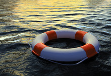3d Render Of Buoy Ring Floating In Water