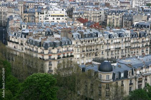 Papiers peints Paris Vue de la tour Eiffel à Paris