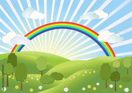Foto-Lamellen (Lamellen ohne Schiene) - Rainbow. Landscape. (von Margo)