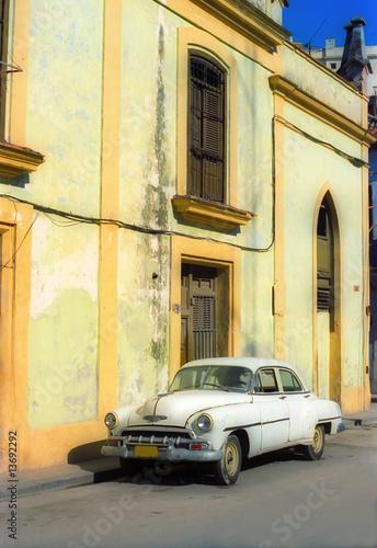 Deurstickers Cubaanse oldtimers Vintage car