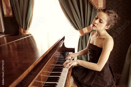 Foto op Canvas Muziekwinkel piano