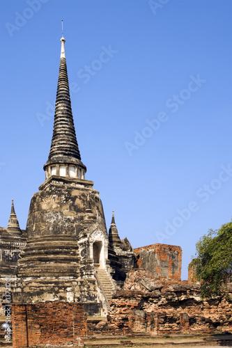 Spoed Foto op Canvas Bedehuis Buddhist Temple Ruins in Ayutthaya, Thailand.