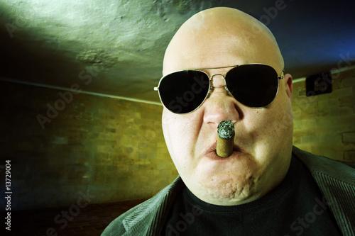 Fotografie, Tablou  Mobster in a dark room