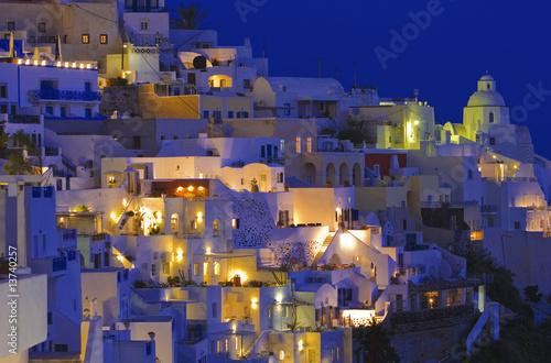 Fotobehang Athene Santorini,Fira