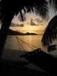 tramonto sulla spiaggia di praslin isole seychelles