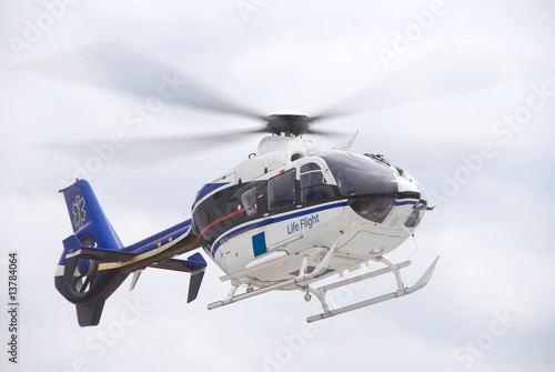 Tuinposter Helicopter Life Flight Helecopter