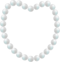 Nacklace From Pearl In Shape Of Heart
