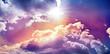 Leinwandbild Motiv heaven and clouds 3