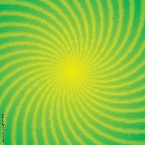 Poster Pissenlit Green Burst Background