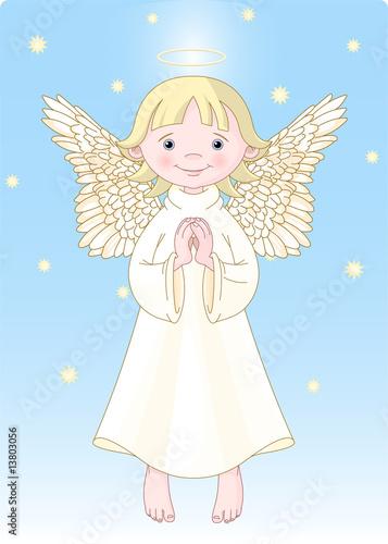 Foto-Lamellen (Lamellen ohne Schiene) - Cute Angel (von Anna Velichkovsky)