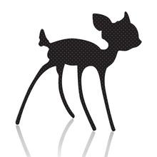 Bambi Silhouette Vector Illust...