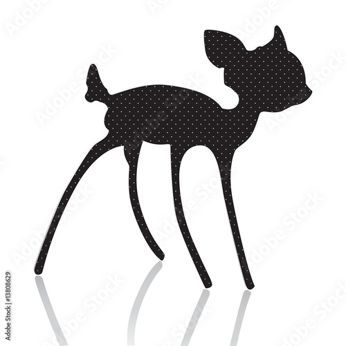 bambi silhouette vector illustration Canvas Print