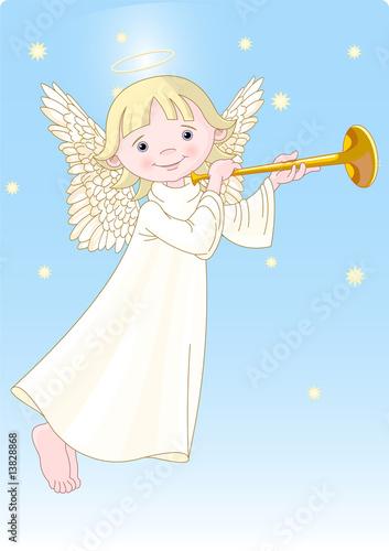 Foto-Stoff - Angel with Horn (von Anna Velichkovsky)