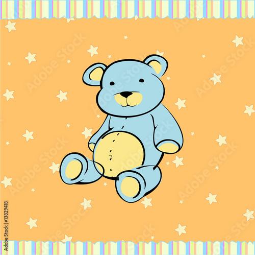 Foto-Lamellen (Lamellen ohne Schiene) - Cute little teddy bear (von triling)