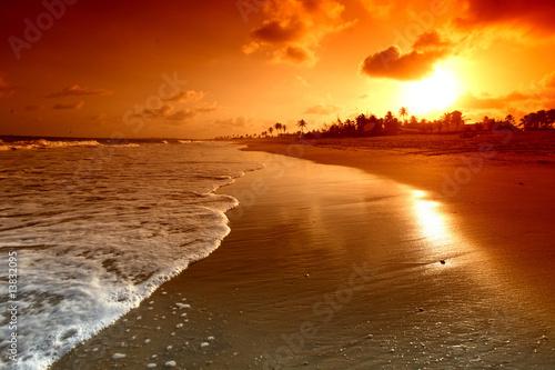 Fototapeta plaża plaza-nad-oceanem