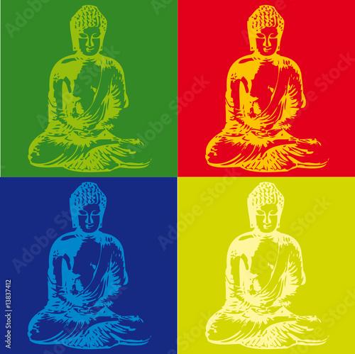 Popart Buddha - 13837412