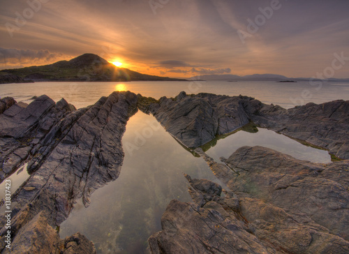 Foto auf AluDibond Eule Ring of Kerry sunrise