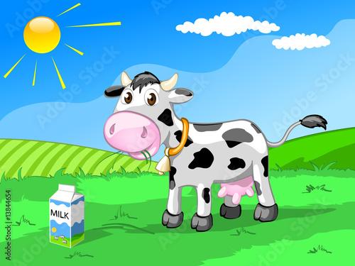 Foto-Lamellen (Lamellen ohne Schiene) - nice cow on the meadow (von flameia)
