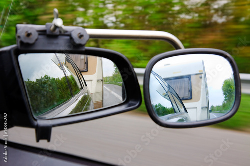 Photographie Driving with a trailer caravan