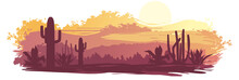 The Mexican Landscape In Brown-orange Tones