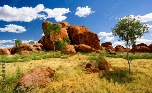 Printed kitchen splashbacks Australia Devils Marbles