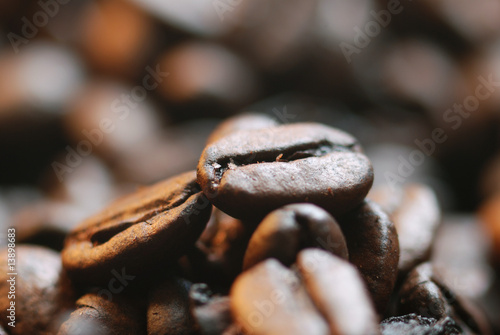 Deurstickers Koffiebonen Café