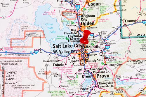 Salt Lake City Map – kaufen Sie dieses Foto und finden Sie ...