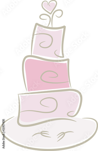 Witzige Hochzeitstorte In Pink Buy This Stock Vector And Explore