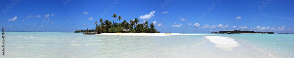 Fototapeta panorama maldivien