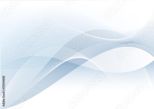 Fotografia, Obraz  blauer wellenhintergrund