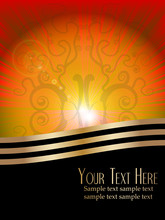 Abstract Vector Sunrise With Copy Space