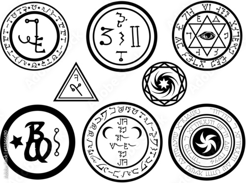 Photo  Alchemical Symbols and Magickal Sigils