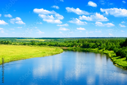 Foto op Plexiglas Landschappen river and summer nature