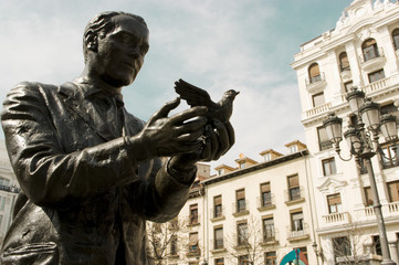 Federico García Lorca. Plaza Santa Ana