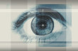 canvas print picture - eye