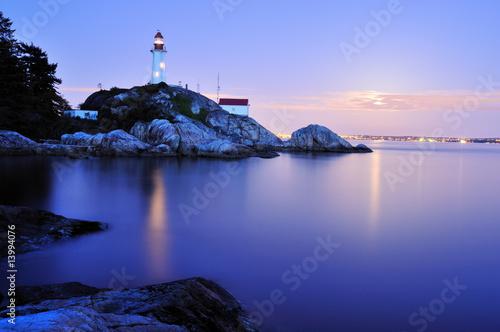 Foto op Aluminium Vuurtoren point atkinson lighthouse, west Vancouver
