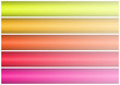 Abstract banner of five colors.white background. easily cropping
