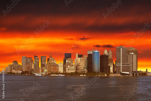 Foto-Kassettenrollo premium - new york skyline (von teamsca)