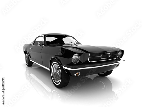 Photo Stands Fast cars auto isolated