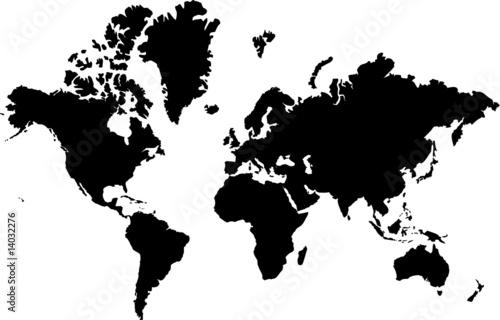Foto op Canvas Wereldkaart carte