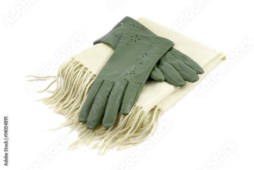 Obraz szal i rękawiczki - fototapety do salonu